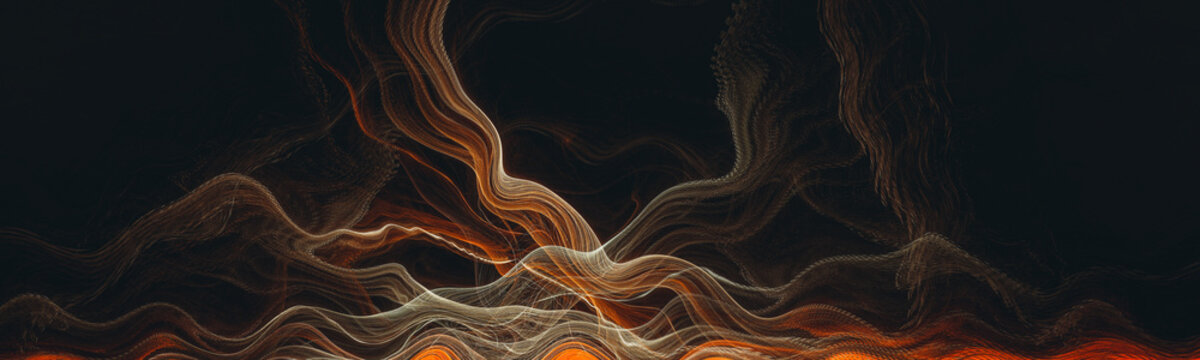 Abstract smoke lines wallpaper, illustration background