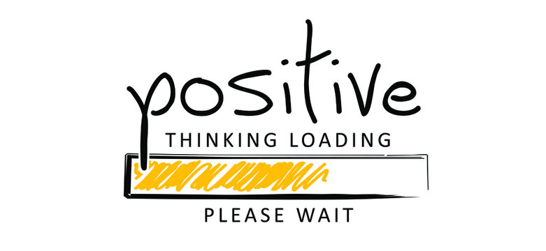Positive thinking concept, for optimistic thinking and self belief. Think positivity. Motivation and inspiration concepts. Relaxing and chill. Flat vector hope sign. Change