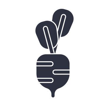 Vegetable Food Icon. Vector Illustration.