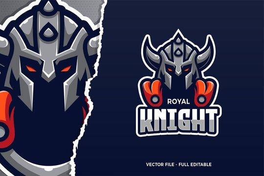Royal Knight E-sport Logo Template