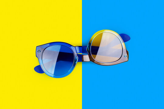 Unreal sunglasses, useless Impossible shape object, optical illusion, abstract surreal concept, upside down trick, visual perception, paradox, absurd idea, crazy fantasy, weird conundrum, mind game