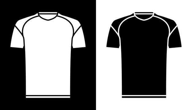 classic football player t shirt icon. Sports uniform of soccer player. Layout of athletes on field. Vector