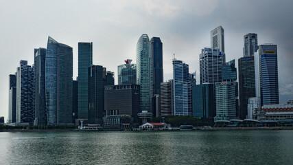 Nowoczesne miasto, drapacze chmur w Singapurze