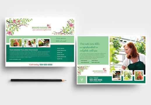 Green Garden Service Flyer Layout
