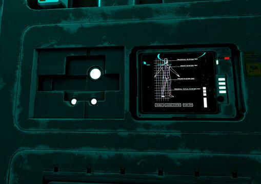 clone space room close up on scan door