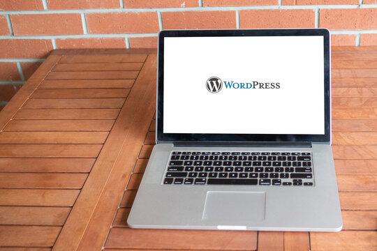 Wordpress logo editorial illustrative