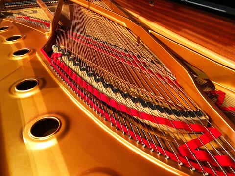 グランドピアノの中身