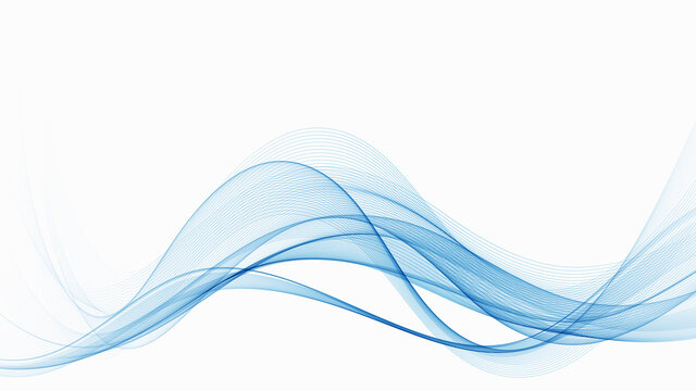 Blue modern abstract lines swoosh certificate Speed smooth wave border background. Vector illustration