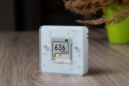 Indoor air quality sensor. Indoor air quality. Co2 monitoring at home