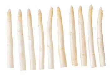 Fototapeta Fresh white asparagus isolated on white background.