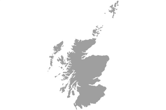 Scotland map .Vector illustration