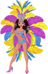 Cute Samba Dancer Girl