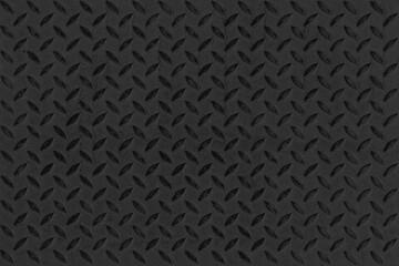 Black Diamond Steel Plate Floor pattern and seamless background
