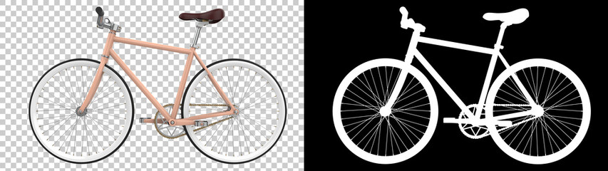 Fototapeta City bike isolated on background. 3d rendering - illustration obraz