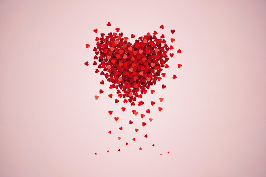 Valentine's day concept with hearts isolated on background