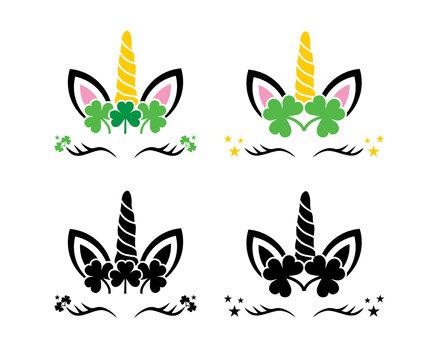 St Patrick's Day unicorn, St. Patrick's Day svg, Saint patrick's Day svg, Unicorn svg, Shamrock svg, Funny patrick's day svg, svg, eps, dxf, png