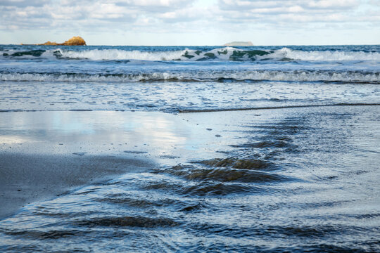 Sea landscape, beach of Brittany