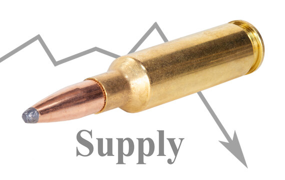 Ammunition supply drops significantly