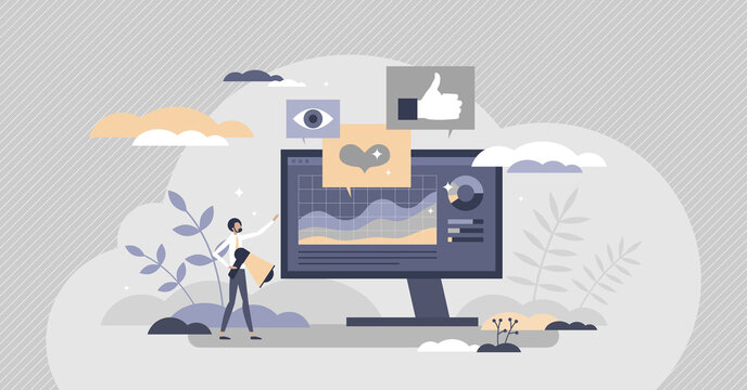 Social media metrics for advertising feedback analysis tiny person concept