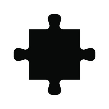 Puzzle compatible icon. Jigsaw agreement vector illustration on white isolated background. Icon vector illustrator
