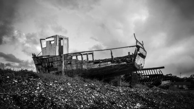 Old decaying boat