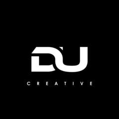 Obraz DU Letter Initial Logo Design Template Vector Illustration - fototapety do salonu