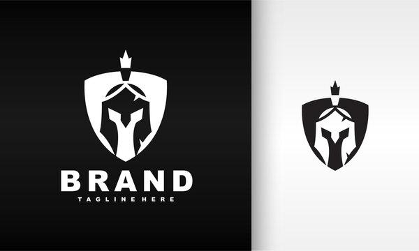shield helmet spartan logo