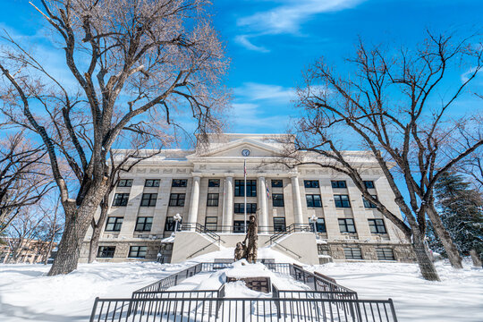 Prescott Courthouse in the Snow