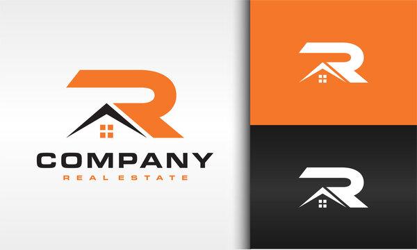 letter R house logo