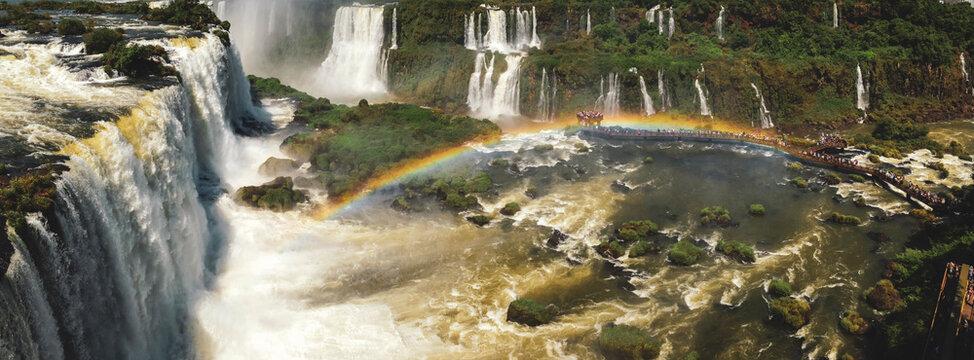 waterfall in the forest, Iguazu Falls