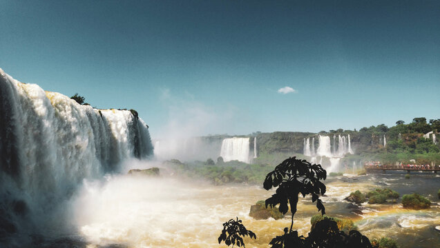 Iguazu Falls, waterfall in autumn