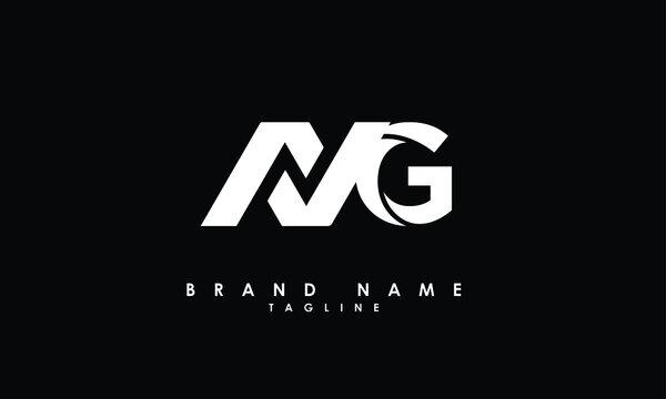 Alphabet letters Initials Monogram logo MG, GM, M and G