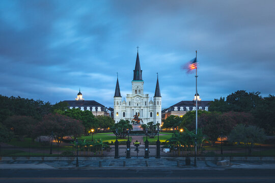 New Orleans's Saint Louis church in the morning