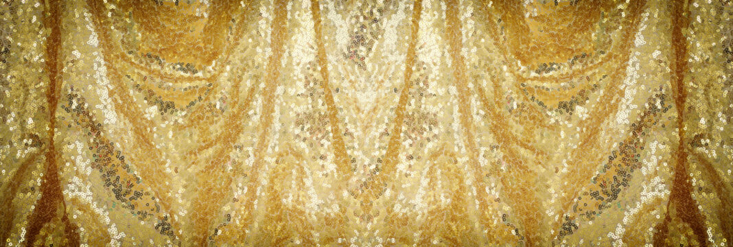 background of beautiful gold sequins fabric