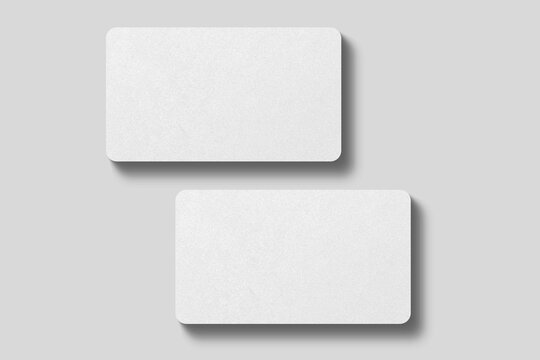 Realistic blank rounded corner business card illustration for mockup