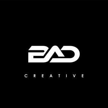BAD Letter Initial Logo Design Template Vector Illustration