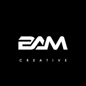 BAM Letter Initial Logo Design Template Vector Illustration