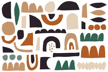 Abstract Geometric Organic Shapes Collection
