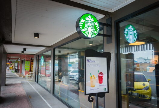 BANGKOK, THAILAND - SEPTEMBER 24,2017: Starbucks Coffee store in Bangkok,Thailand. Starbucks Coffee is an American chain of coffee shops, founded in Seattle..