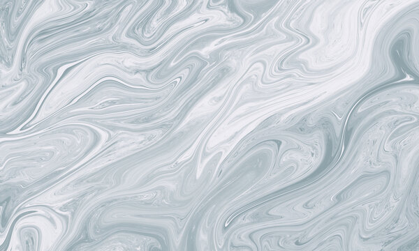 Light blue marble texture background. Beautiful abstract fluid art background.