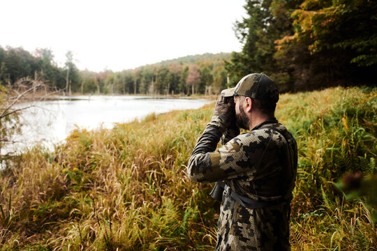 Bow Hunting glassing in the Appalachian Mountains