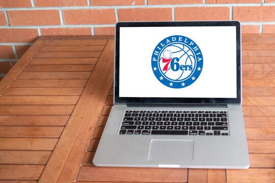 Philadelphia 76ers logo editorial illustrative