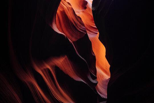 Landscape images of Antelope Canyon near Page, Arizona.