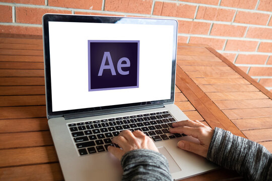 Adobe After Effects logo editorial illustrative