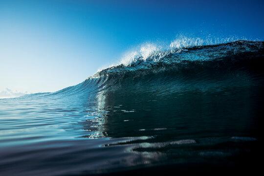 blue wave in Almería beach