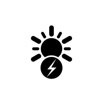 Sun energy icon isolated on white background