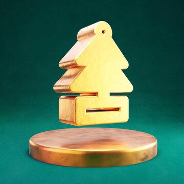 Air Freshener icon. Fortuna Gold Air Freshener symbol on golden podium.