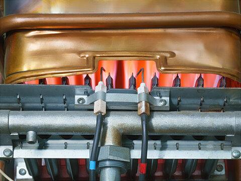 Working heat exchanger of a gas water heater