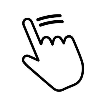hand vector swipe