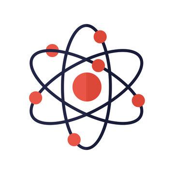 atom on a white background